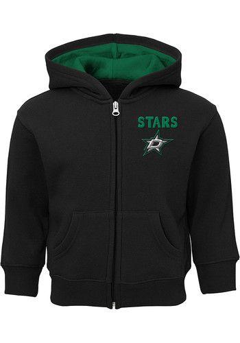 Dallas Stars Baby Enforcer Long Sleeve Full Zip Sweatshirt - Black ... 81b6f086a