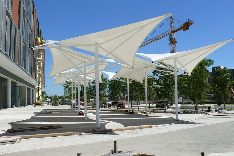 Fabric Shade Structures : Https google search q outdoor seating roofing