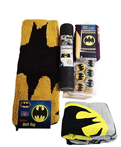 Batman Bathroom Accessories 12pc Bundle foregathe – Batman Bathroom Accessories