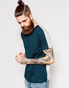 Enlarge YMC T-Shirt Contrast Back