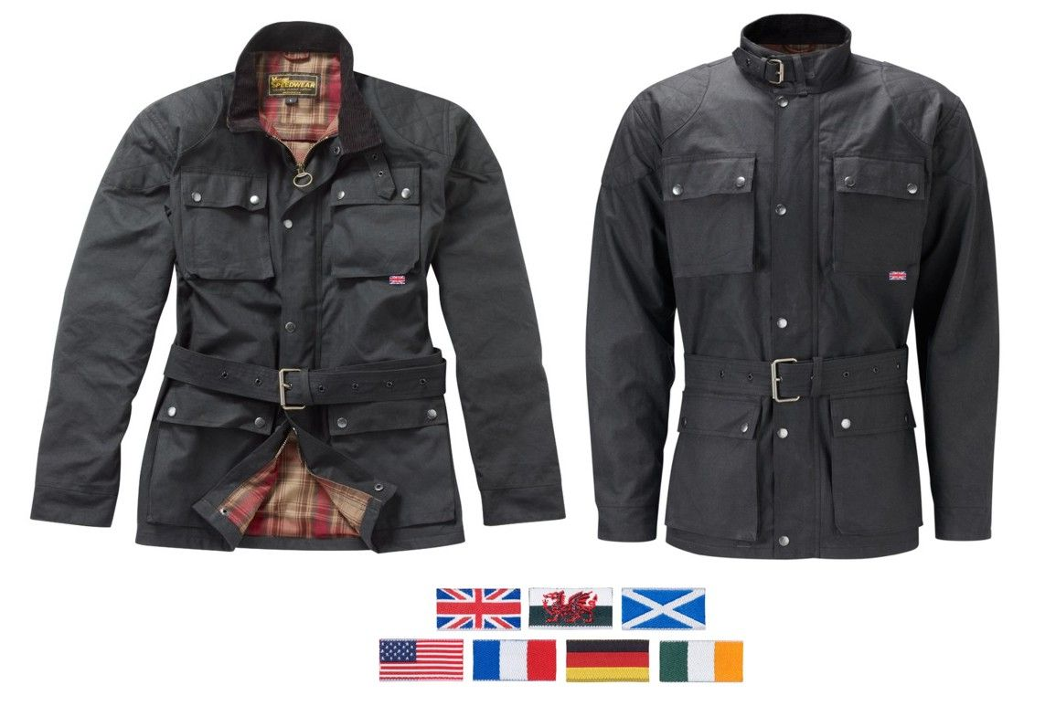 09a749a41c5e The Continental wax cotton motorcycle jacket Traditional black waxed cotton motorcycle  jacket with armour [] - £169.99 : Speedwear Ltd, Wax Jackets, ...
