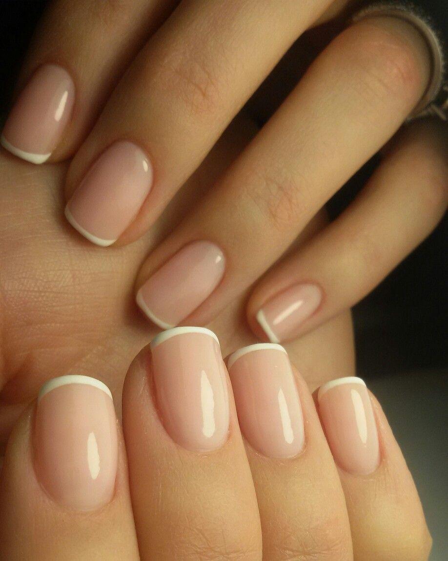 Francesa Fina French Manicure Nails Natural Nails Natural Gel Nails