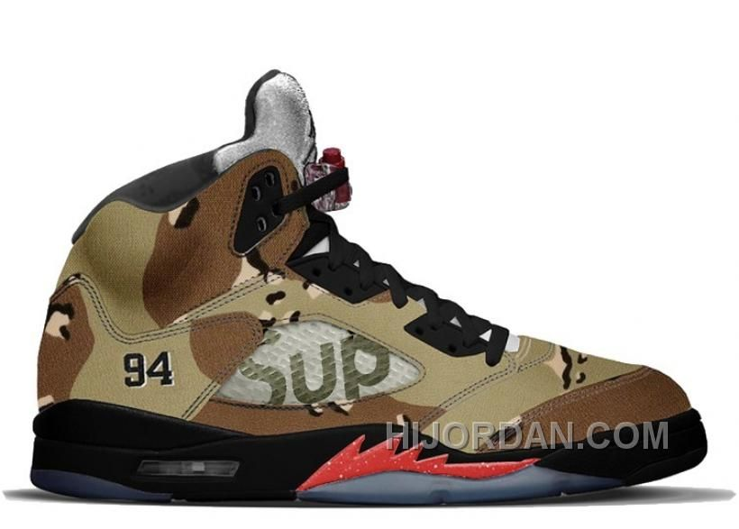 new arrival 23516 3044a httpswww.hijordan.comauthentic-air-jordan- Authentic Air Jordan 5 Retro  Desert CamoFire Red-Black (Men Women) Air Jordan 5 Retro Supreme White Fire  ...