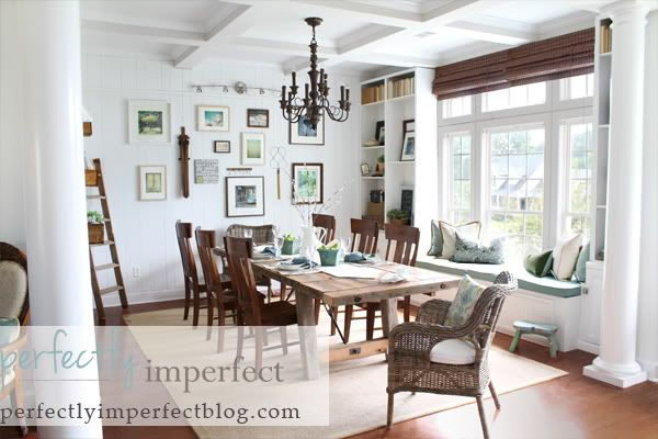 Planking on walls is trending.  Accomplish the look with random plank, grooved paneling.  www.designthespace.com has laminated/prefinished paneling you can use, or paintable birch paneling to accomplish this look.
