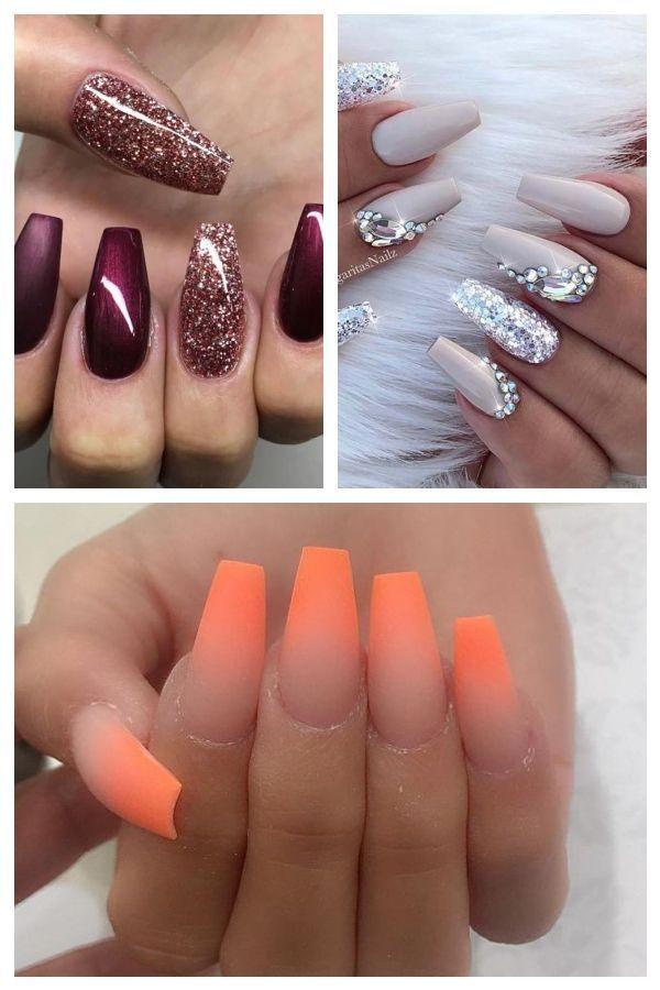 Ballerina Nägel Gel Matt Glitzer Bordeaux Dunkelrot #nails