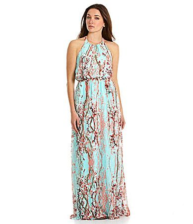 Jessica Simpson Cherry Blossom Maxi Dress Dillards I Want This