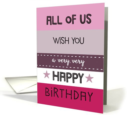All of us wish you a very very happy birthday business retro all of us wish you a very very happy birthday business retro card reheart Image collections