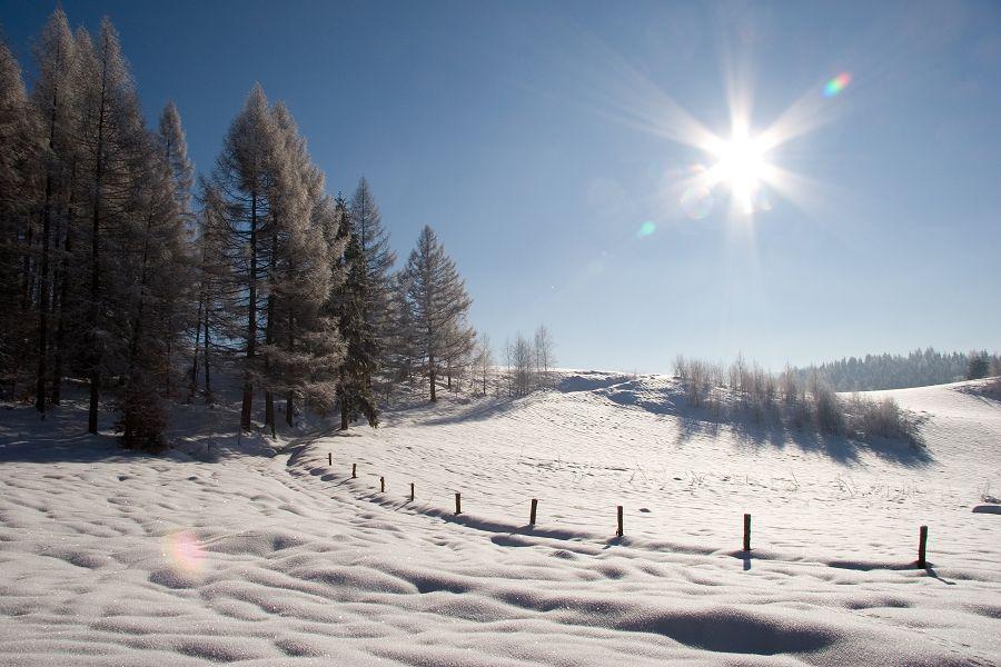 Zegiestow in winter, Poland