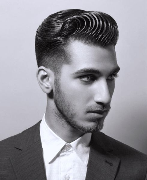 Admirable Wavy Pompadour Mens Grooming Pinterest Pompadour Hairstyles For Men Maxibearus