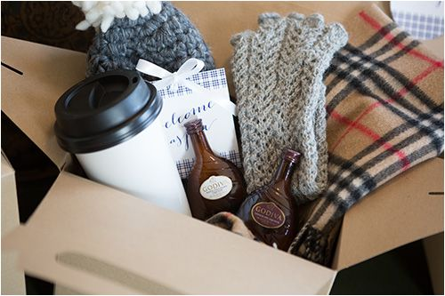 This Winter Wedding Welcome Bag Is Full Of Things Your Guests Can Use During Their Stay
