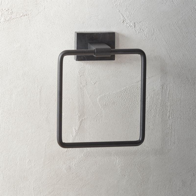 Shop Black Marble Towel Ring Finished In Elegant Black Marquina Marble With Subtle White Veining Towel Ring Make Towel Rings Black Towels Toilet Paper Holder