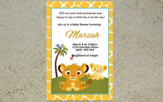 Printable lion king baby shower invitation lion king birthday printable lion king baby shower invitation lion king birthday invitation filmwisefo