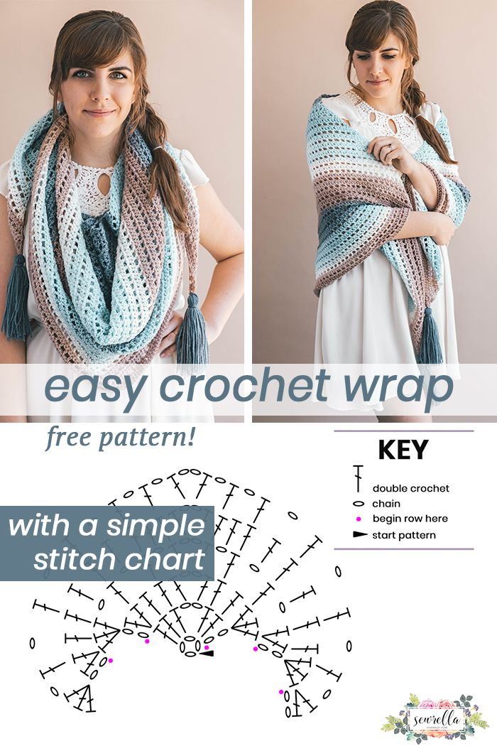 Crochet Wishing Well Wrap   Crochet Scarves and Accessories ...
