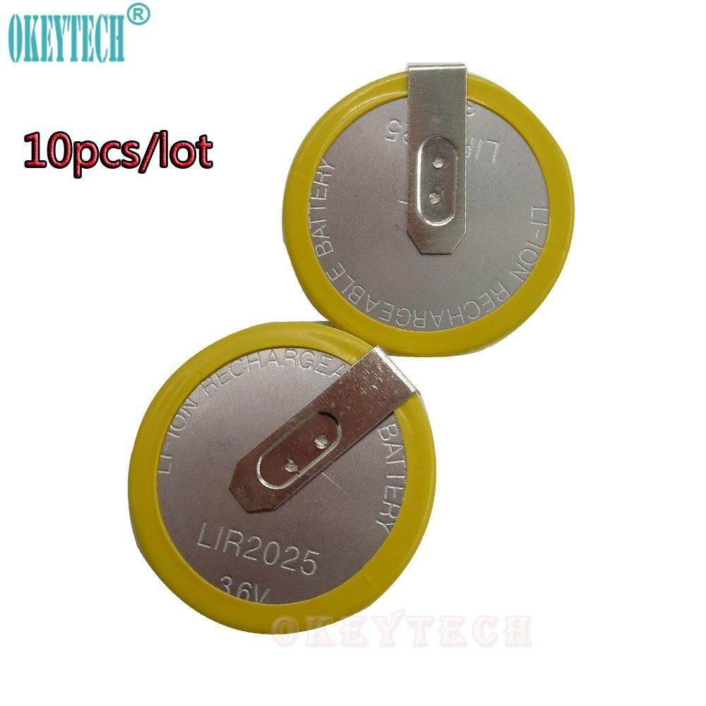 Okeytech 10pcs Lot 3 6v Lir 2025 Rechargeable Battery For Bmw 3 5