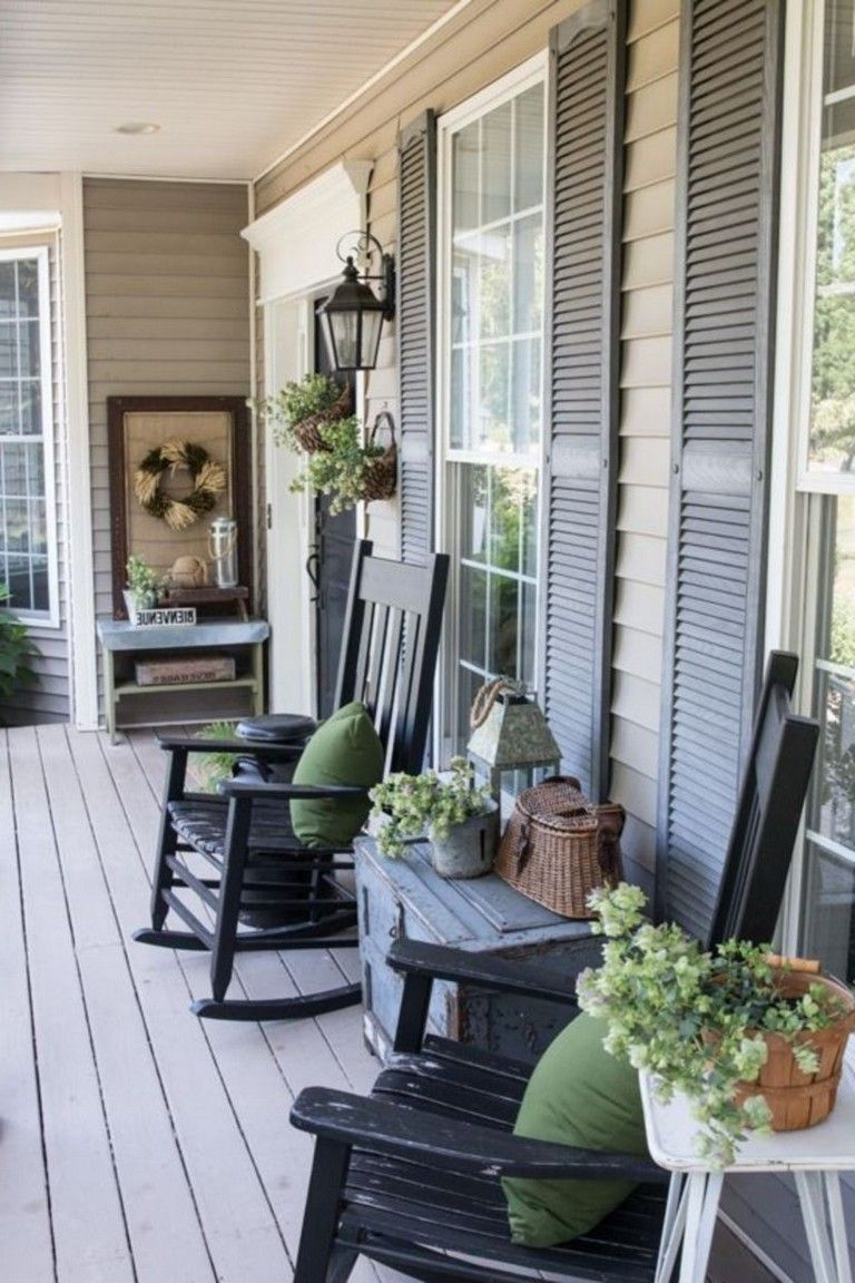 45 Stunning Farmhouse Porch Decorating Ideas Porch Furniture Front Porch Furniture Farmhouse Front Porches