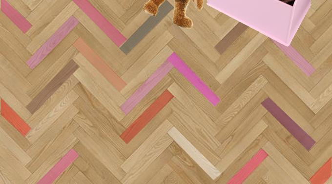 dekoracja podłogi w pokoju dziecka