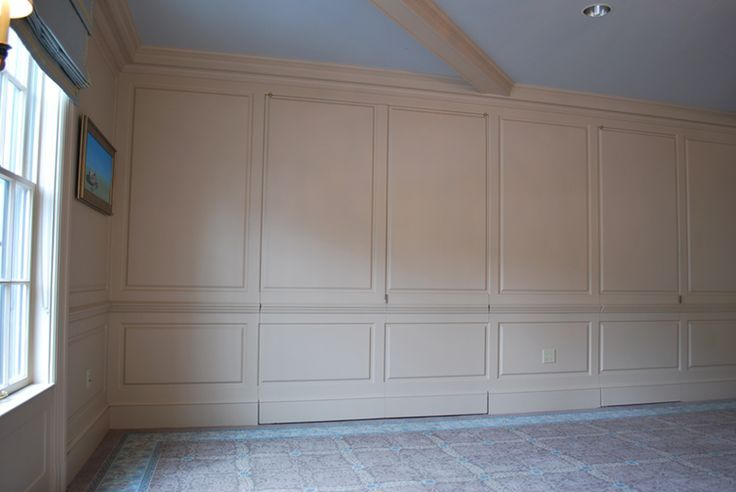 Wainscoting Full Wall Panels Hidden Storage Google Search