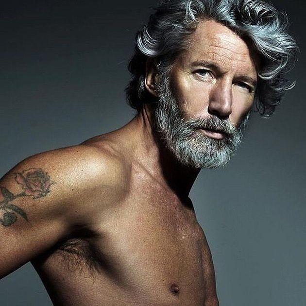 cheveux gris pour hommes lui pinterest - Coloration Grise Homme