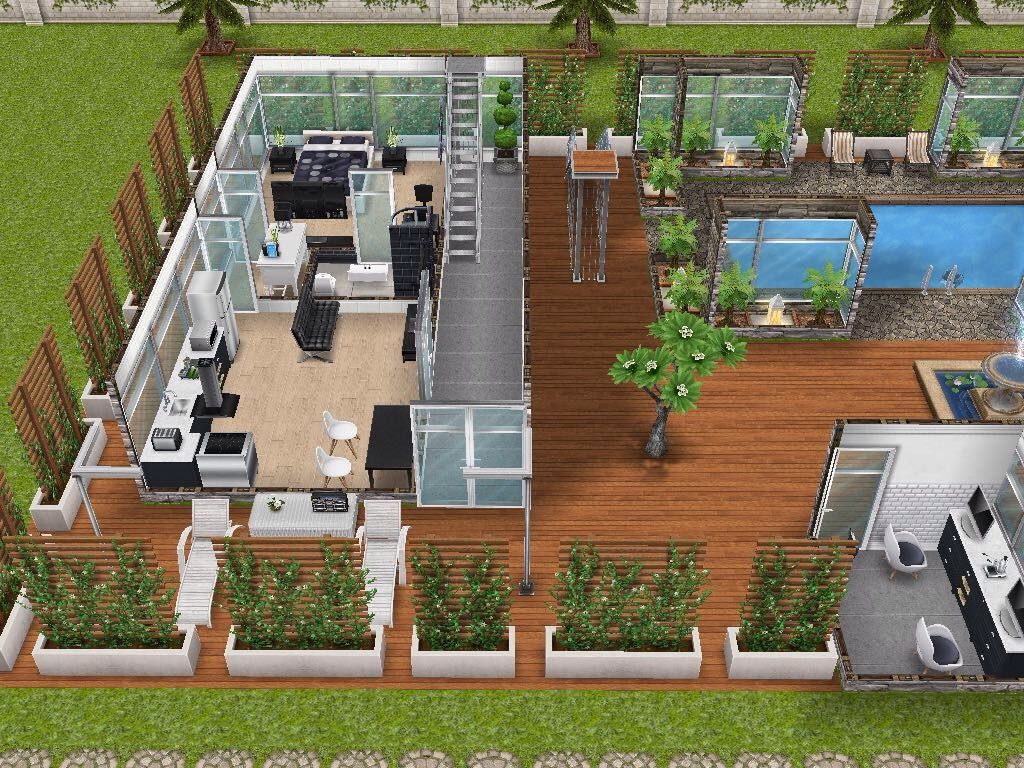 House 95 Gated Apartments Ground Level #sims #simsfreeplay #simshousedesign