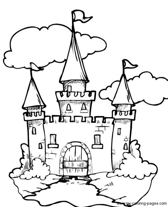 castle coloring pages w links to other fairy tale coloring pages - Fairy Tale Coloring Pages