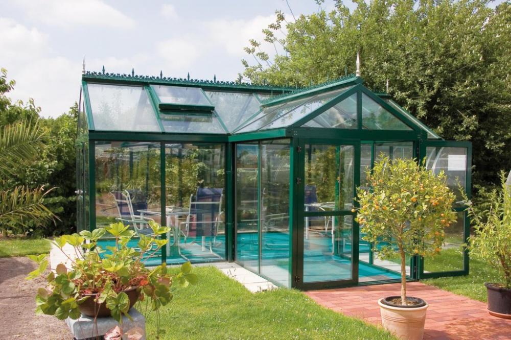 Freistehend Im Englischen Stil Garten Heinemann Garten Gewachshaus Schiebefenster Dachflache