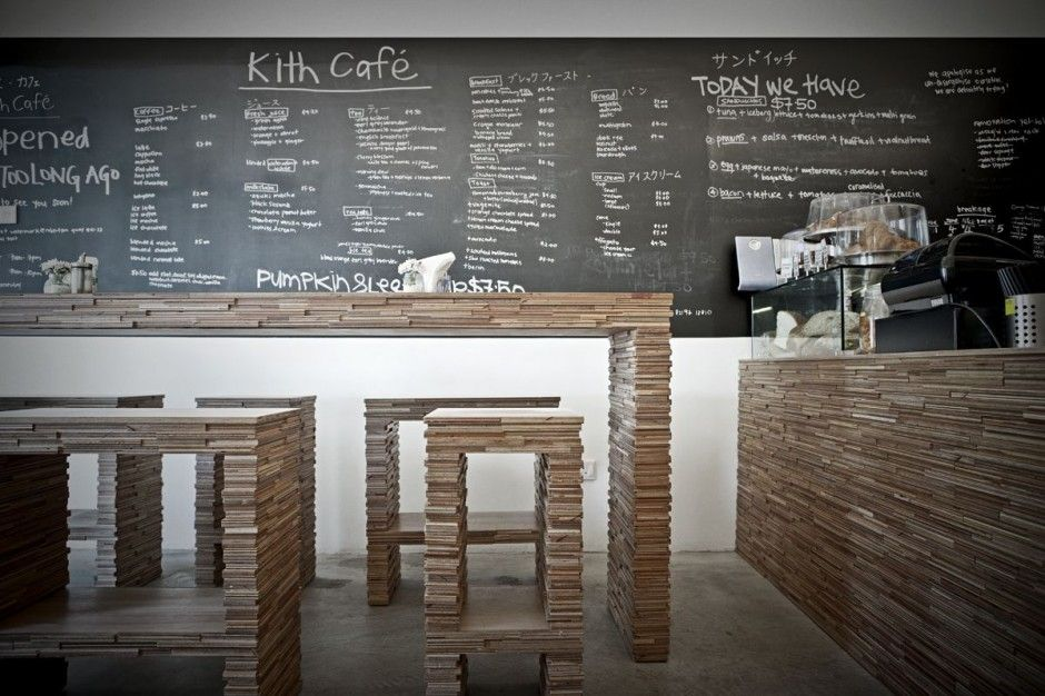 The Kith Caf Chalkboard Menu Interior Design Japan