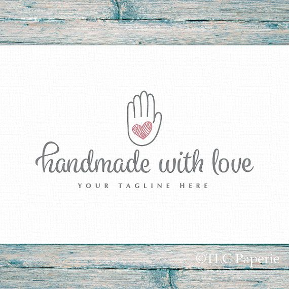 Handmade Logo Art Craft Logo Crochet Logo Knitting Logo Custom