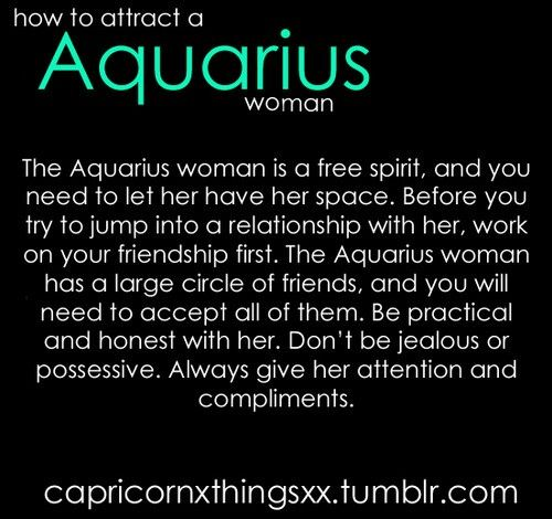 How to attract an Aquarius Woman 1  Don't be jealous