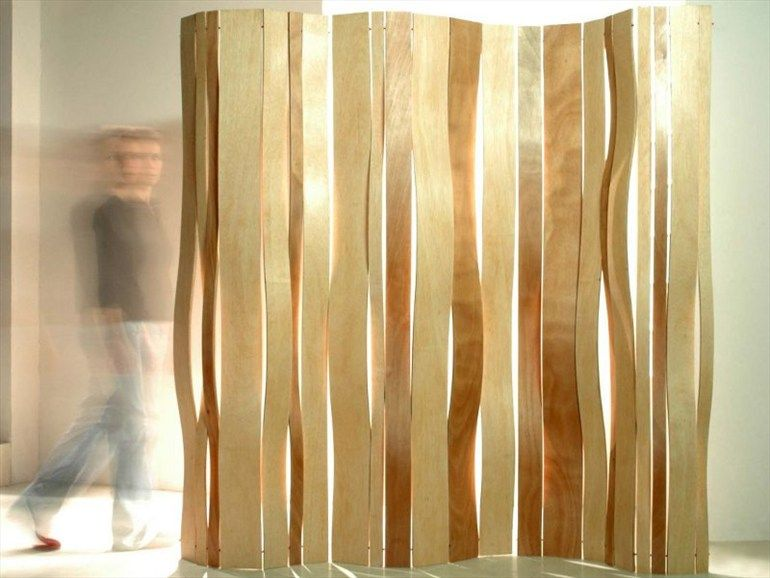 Wooden Desk Partition Swell By Vange Design Ln Boul Modern Room Divider Folding Screen Wooden Room Dividers
