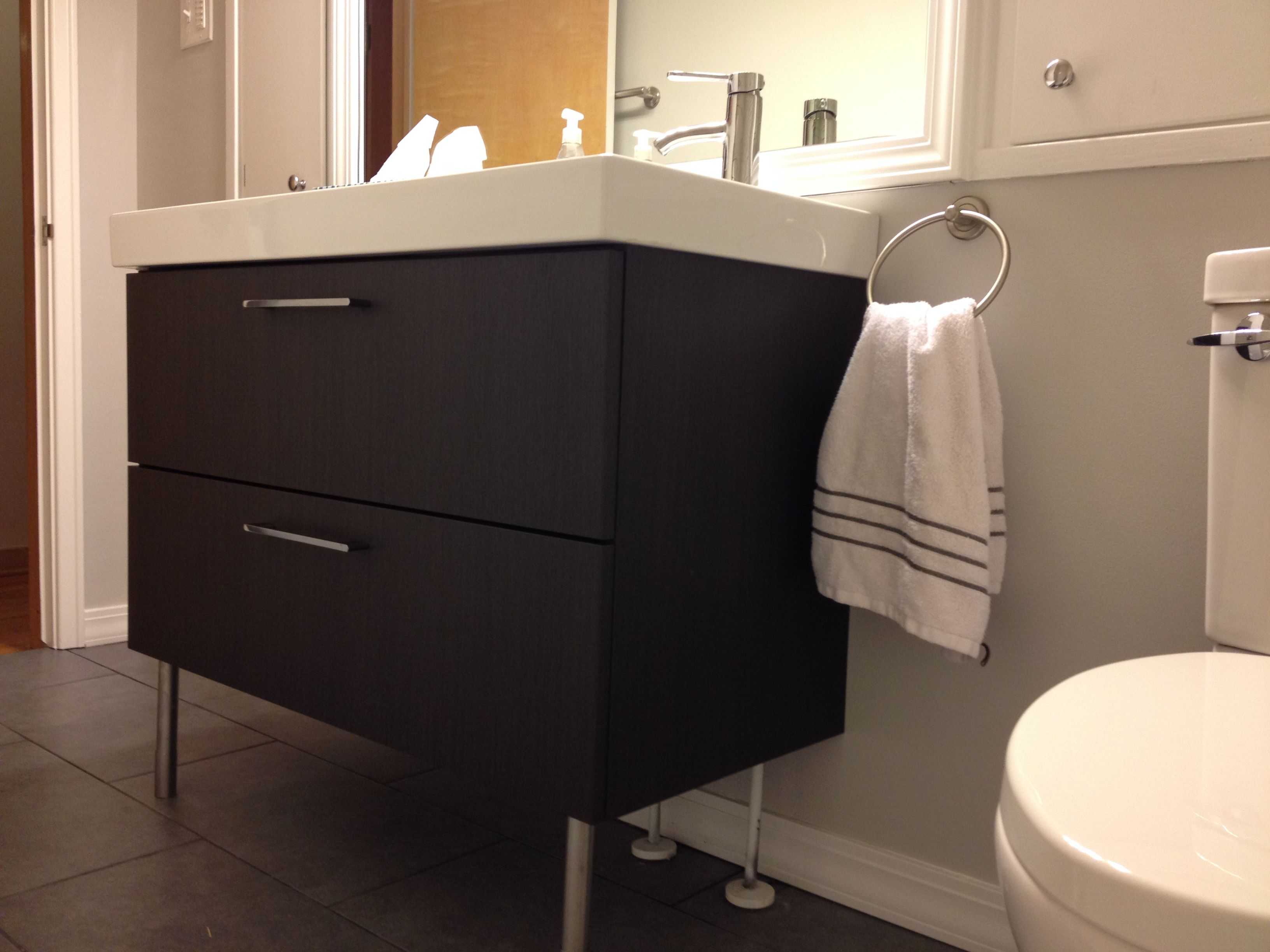 After endless pinning our bathroom is finally plete Ikea
