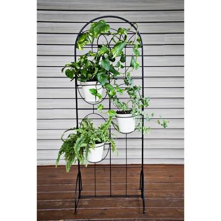 51 garden trellis stand with 3 pot holders garden pinterest 51 garden trellis stand with 3 pot holders workwithnaturefo