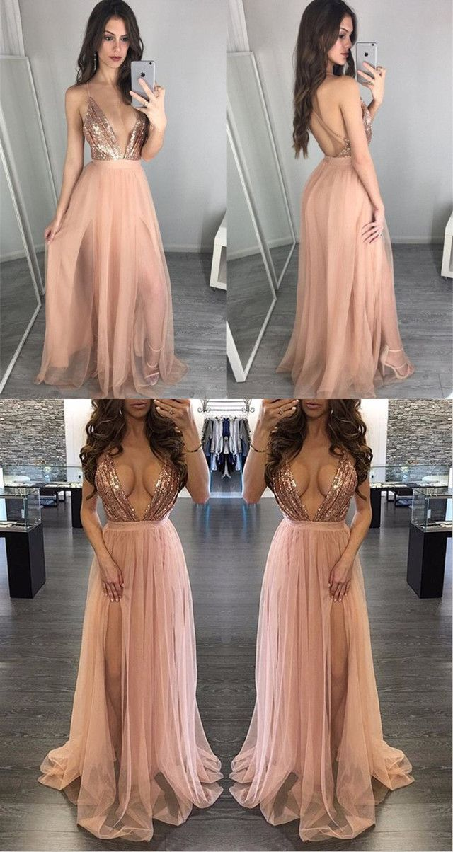 Slit Prom Dresses 2018