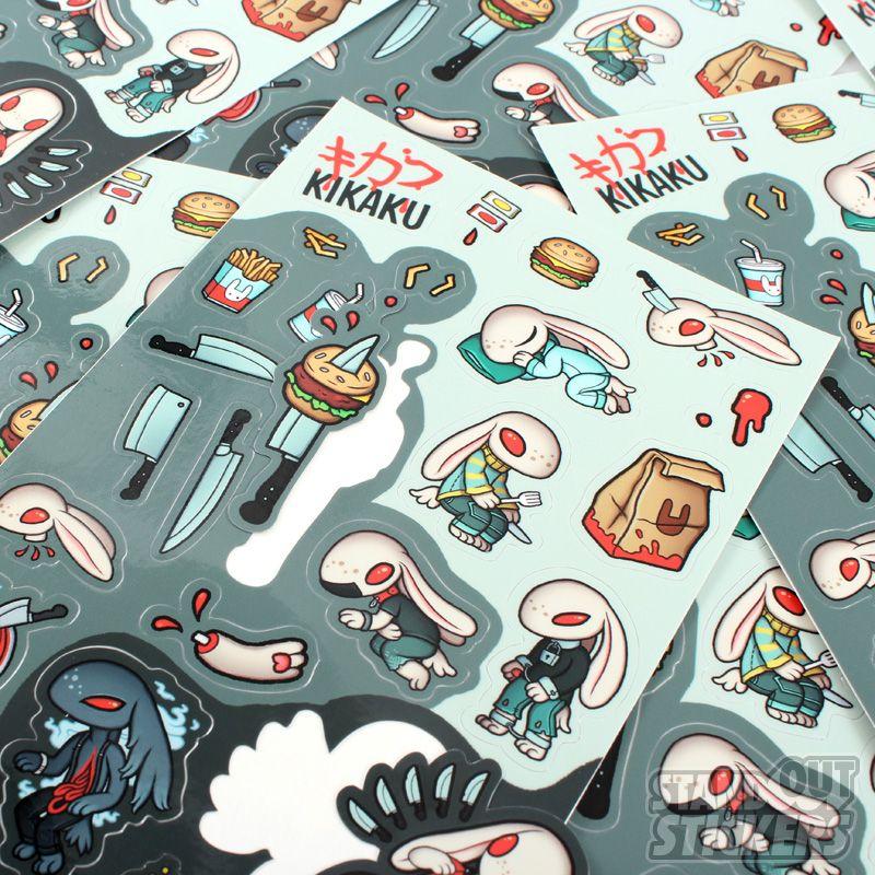 CROWN STUDIO RECTANGLE CUSTOM STICKER SHEETS Rectangle - Custom decal stickers
