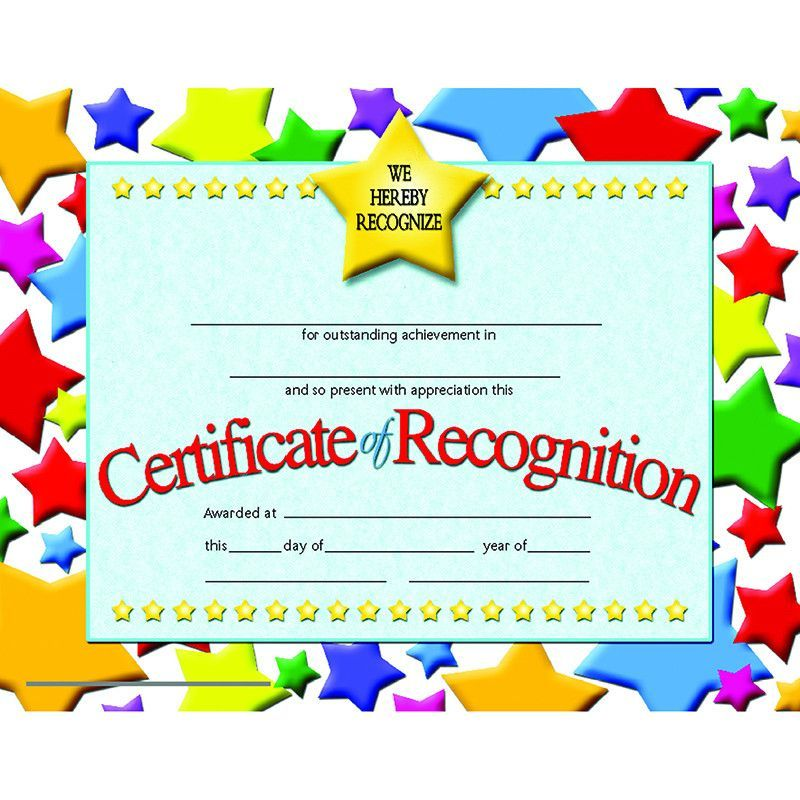 Certificates of recognition 30 pk Awards certificates template
