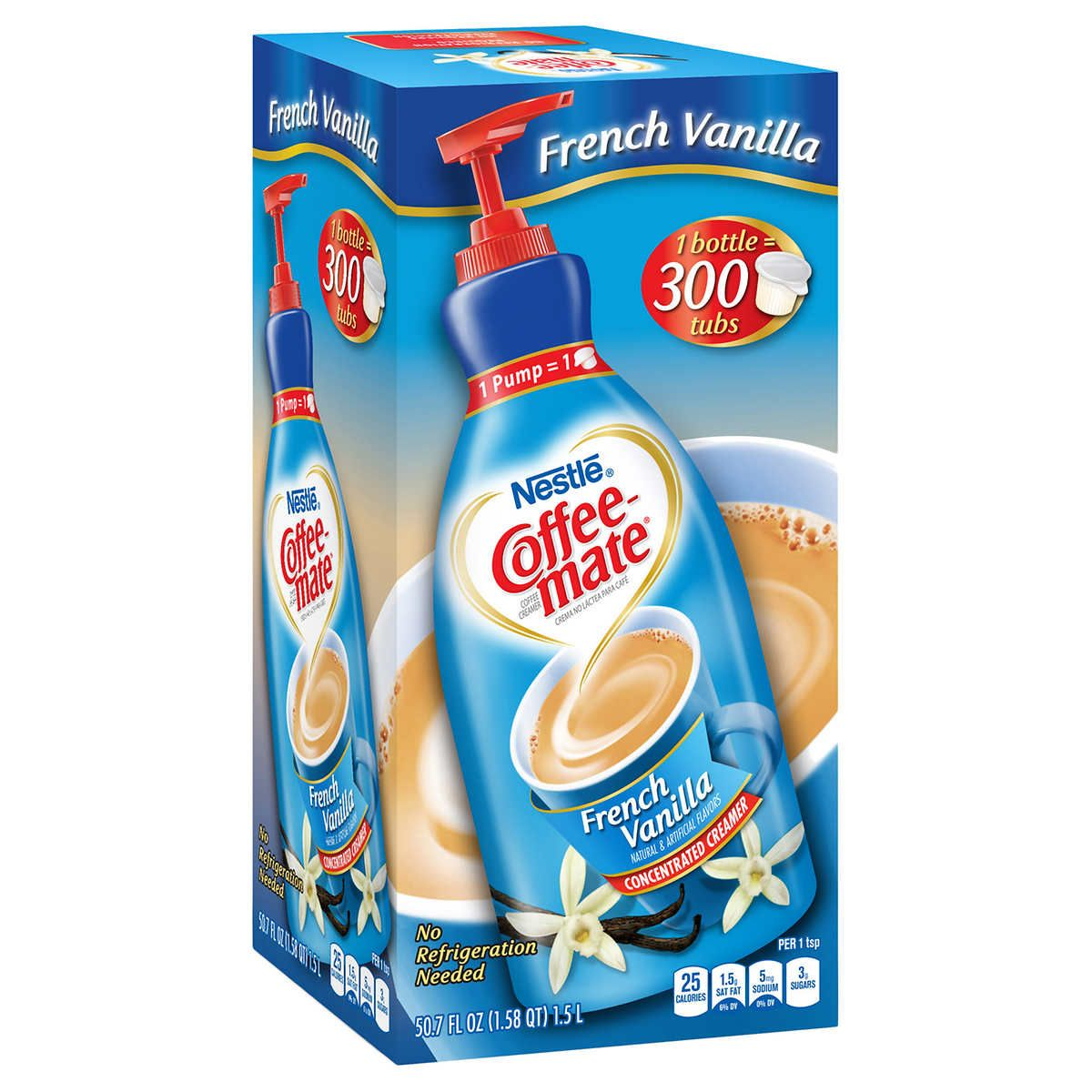 Nestlé Coffeemate Coffee Creamer, French Vanilla, Pump