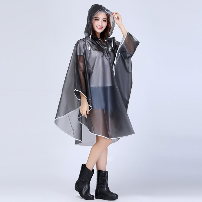 EVA Fashion Sexy Girls Women Lady Vinyl Rain Cape Jacket Women ...