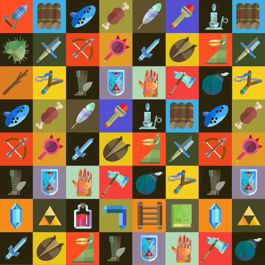 Zelda items (With images) Retro gaming art, Wind waker