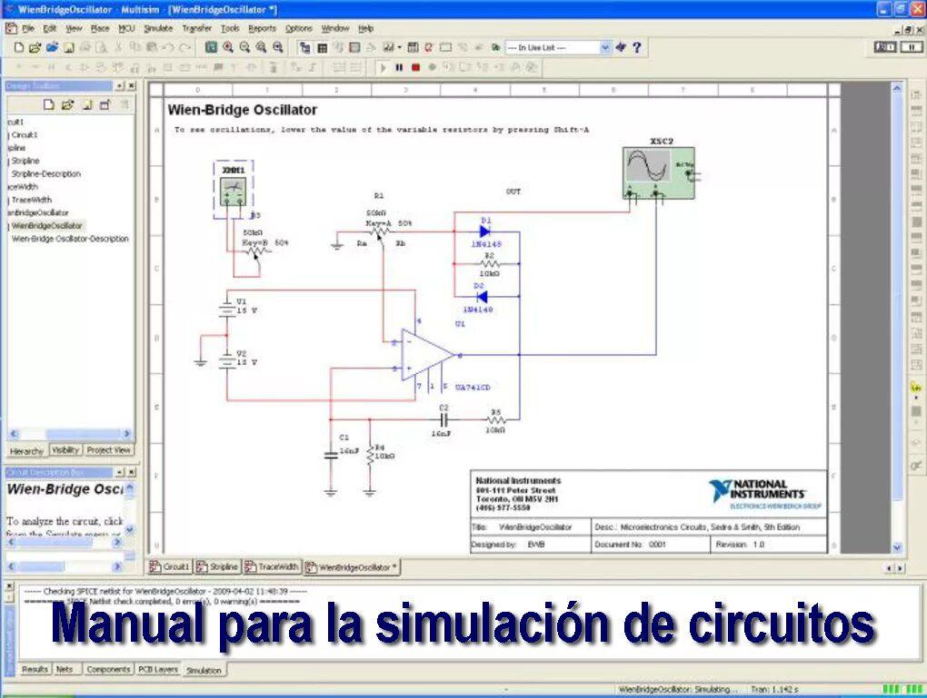 Manual Para La Simulacion De Circuitos Haciendo Uso Del Software Multisim Analisis De Circuitos Ingenieria Electronica Circuito Electronico