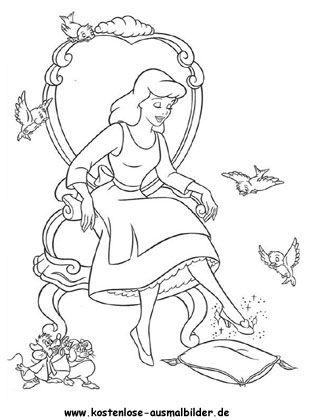 Cinderella Ausmalbilder Zum Ausdrucken Ausmalbilder Für Kinder