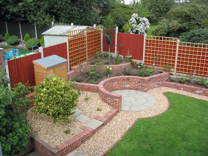 Corner Garden Design a sunny corner - a low-maintenance solution to an awkward sloping