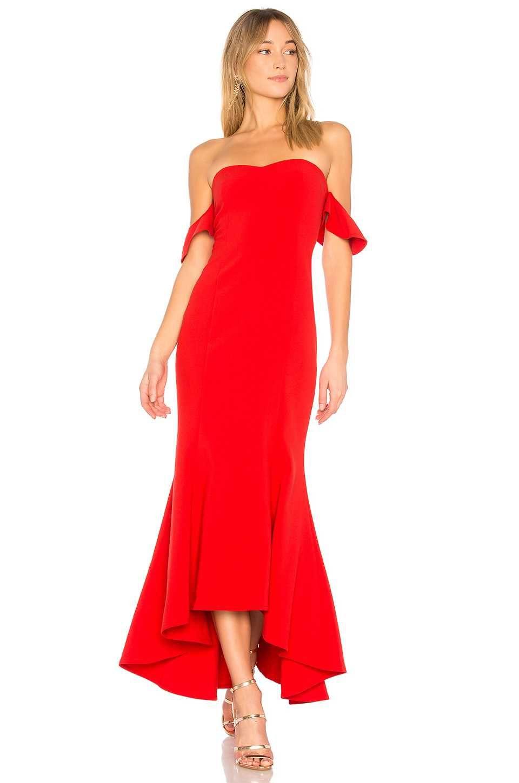 Rote cocktailkleider lang