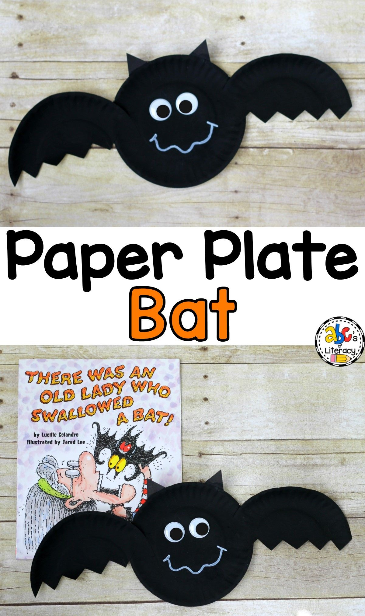 How To Make A Paper Plate Bat Craft For A Halloween Craft