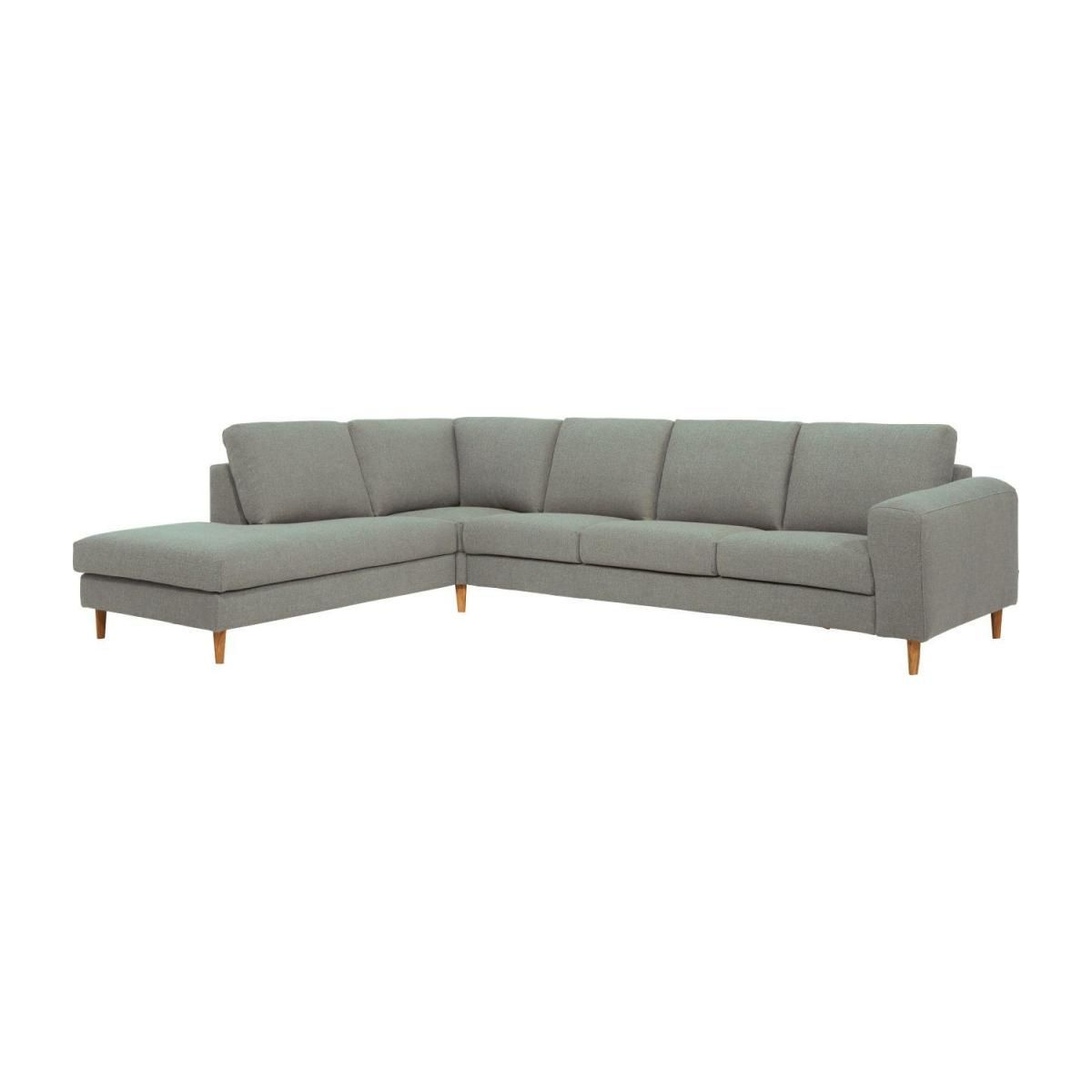 Bosa - 4-Sitzer-Sofa mit Open-End links aus Stoff, grau ...