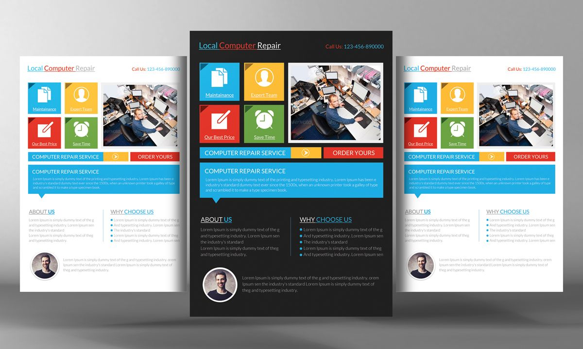 Computer Service Flyer Template | Computer service and Flyer template