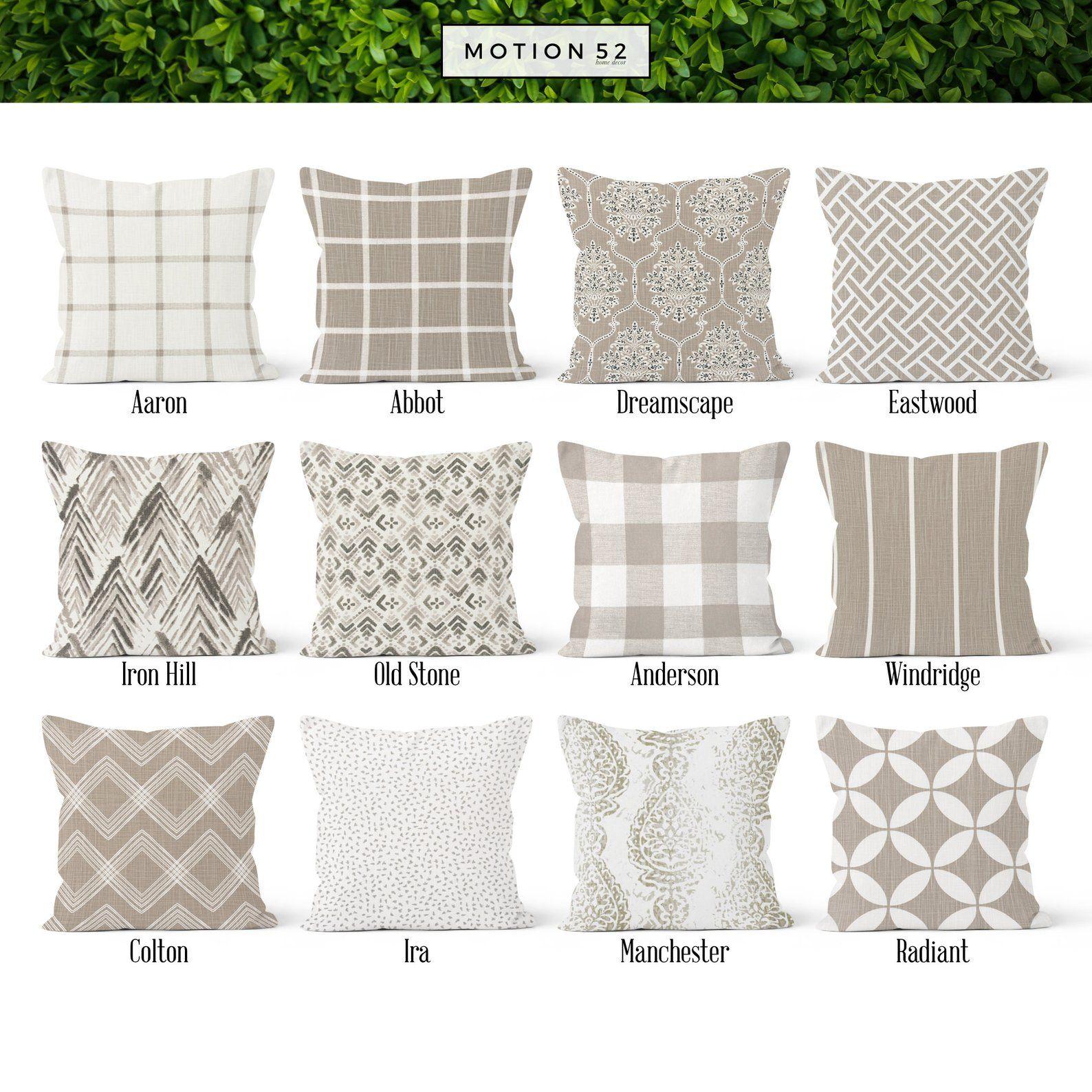 tan beige ecru pillow cover decorative