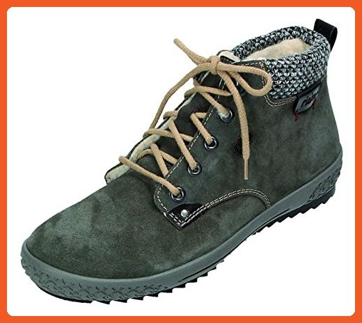 Rieker womens Lace up boots graphitblackgrey size 40.0 EU