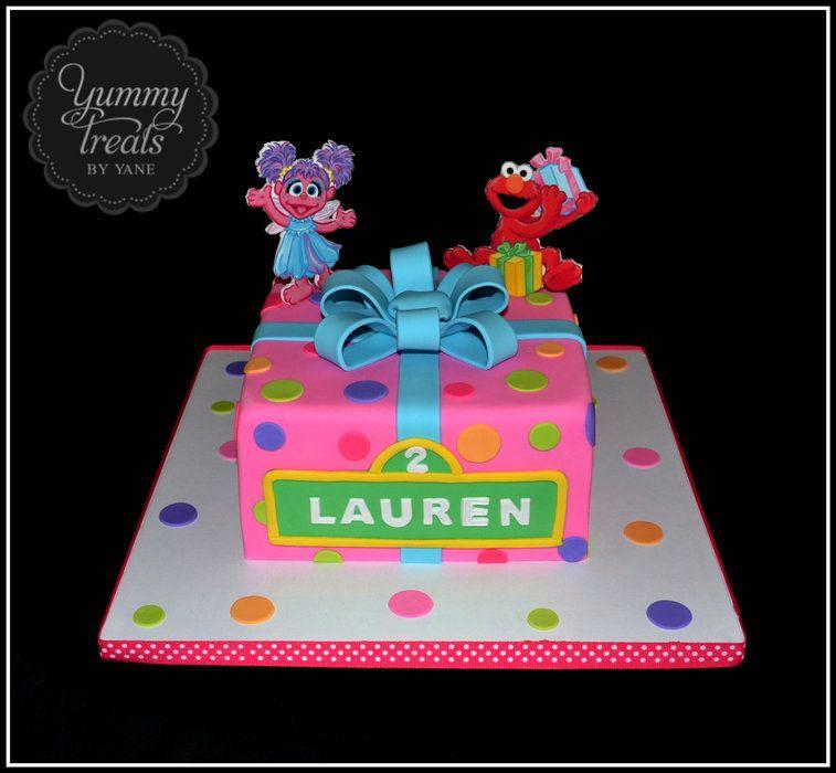Cool Abby And Elmo Cake Sesame Street Birthday Cakes Sesame Street Funny Birthday Cards Online Necthendildamsfinfo
