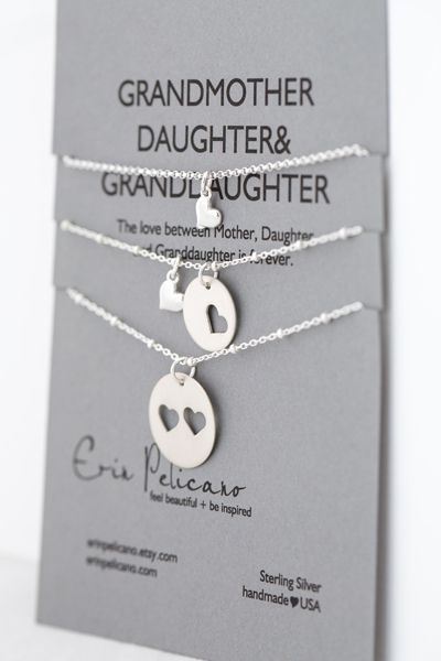 Grandmother daughter granddaughter necklace set mother grandmother daughter granddaughter necklace set negle Gallery