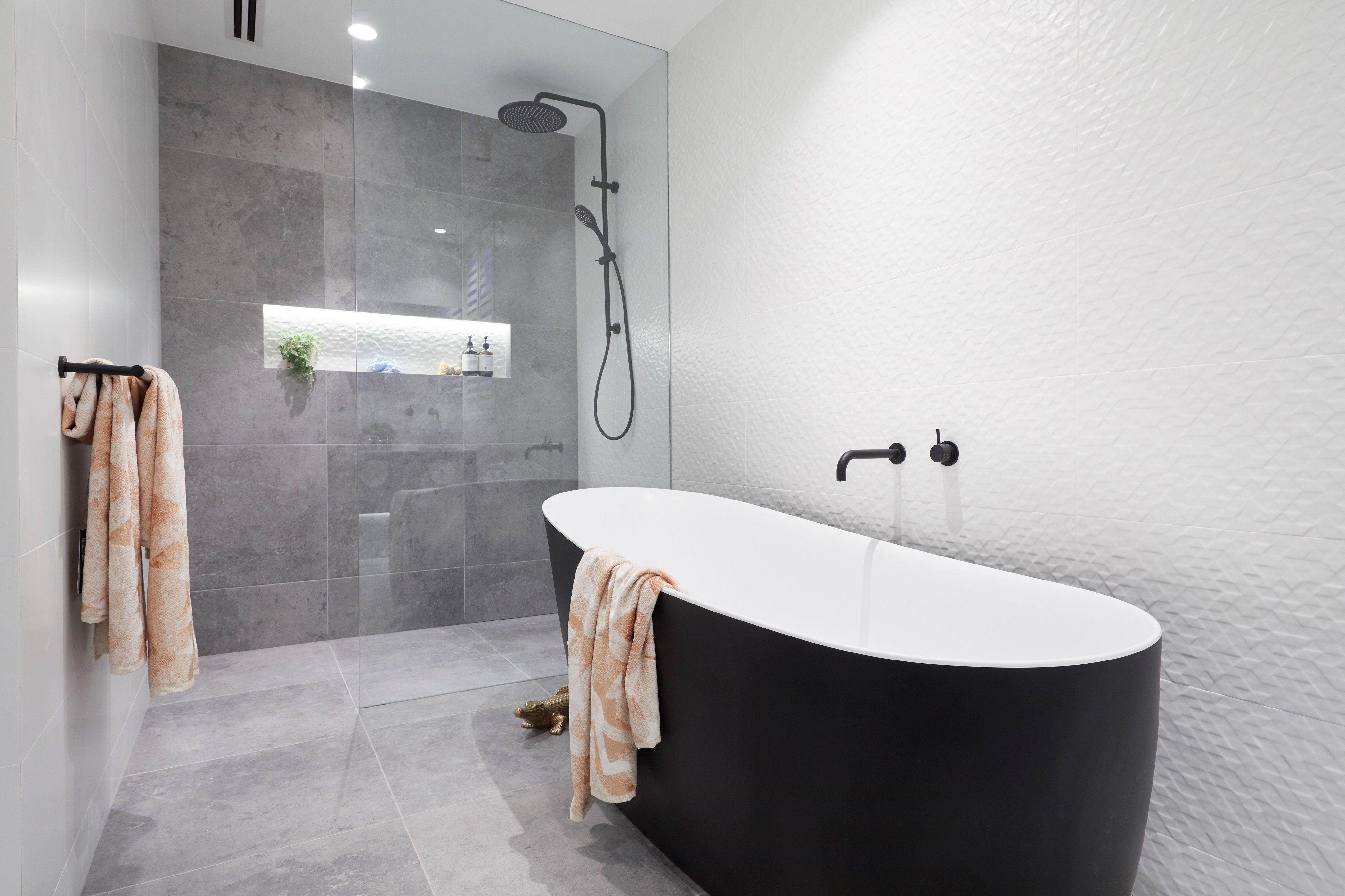 Hayden Sara S Challenge Bathroom From The Block 2018 At The Gatwick In St Kilda Australia Reece Bathroom The Block Bathroom Black Bathroom