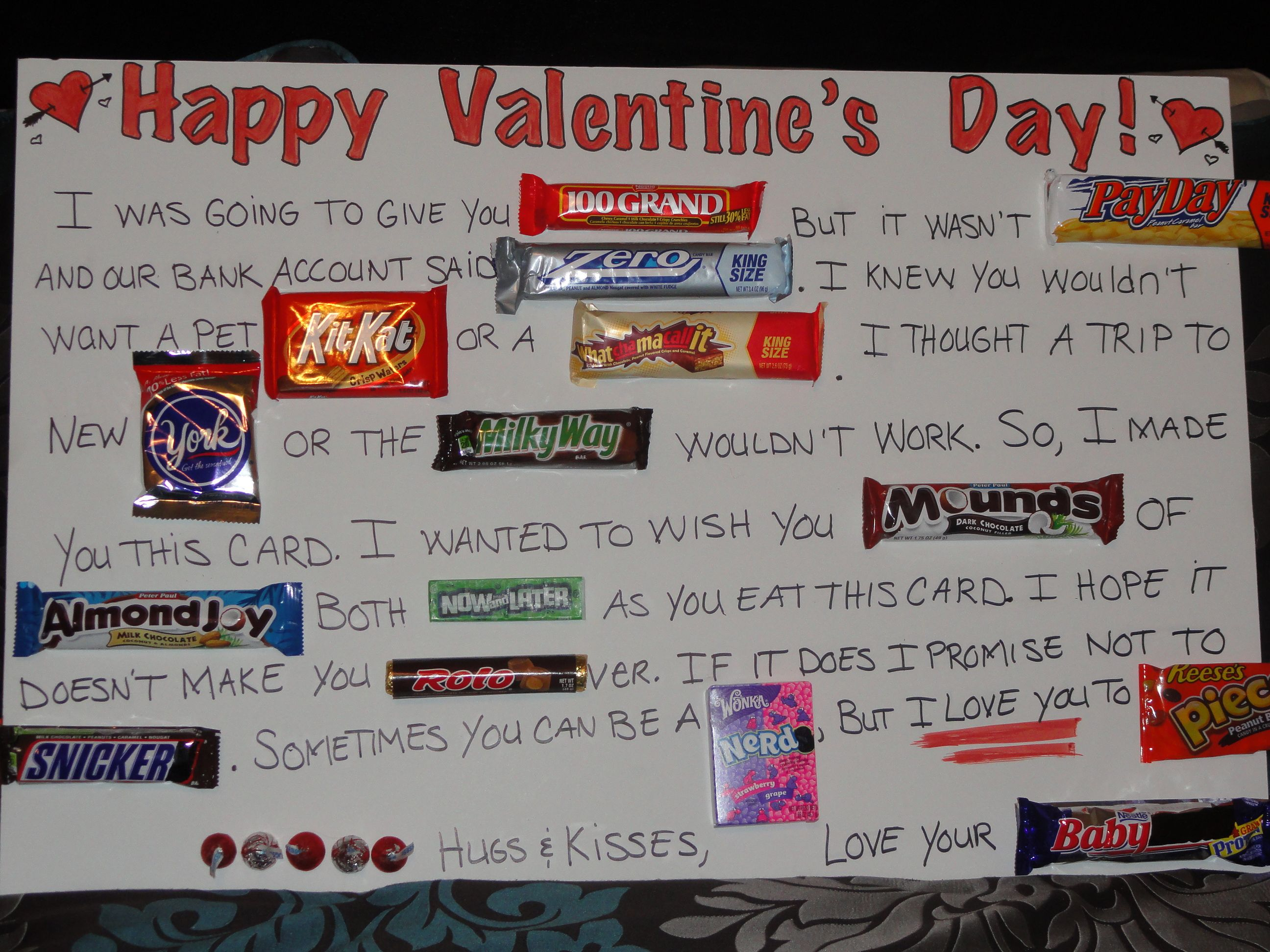 What a great idea A candy bar card Good ideas – Candy Valentine Card